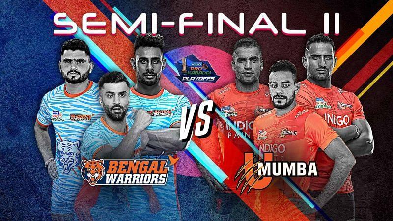 Bengal Warriors vs. U Mumba (Pro Kabaddi 2019, Semi-Final 2)