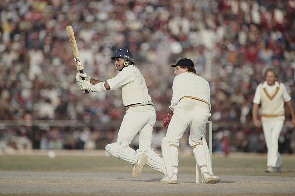 Dilip Vengsarkar India v England 2nd ODI 1981