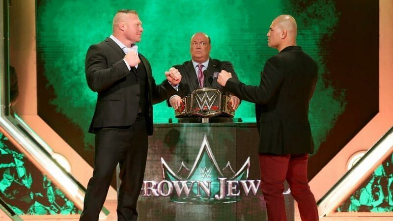 Image result for brock lesnar vs cain velasquez crown jewel