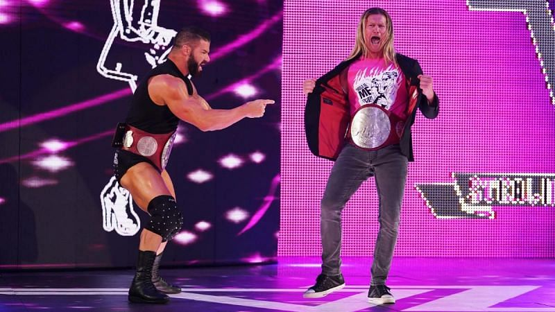 The RAW Tag Team Champions, Robert Roode and Dolph Ziggler