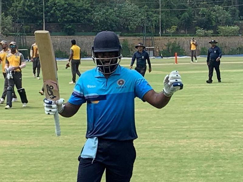 नाबाद दोहरा शतक लगाने के बाद संजू सैमसन
