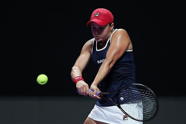 Ashleigh Barty came from a set down to beat Belinda Bencic at the 2019 WTA Finals.