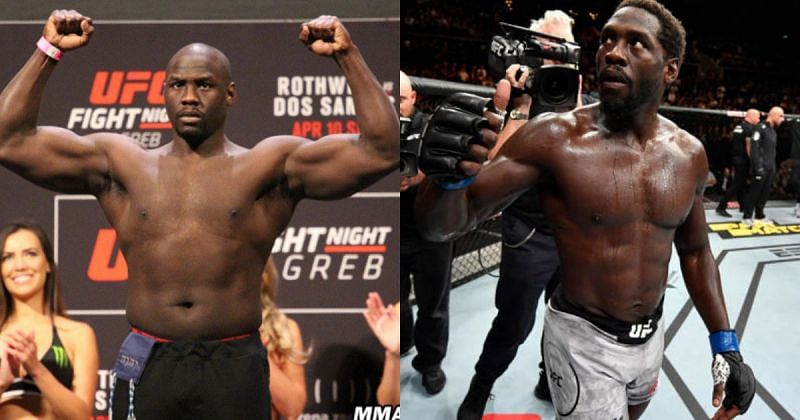 The transformation of Jared Cannonier from being a Heavyweight (L) to a Middleweight (R) has been incredible
