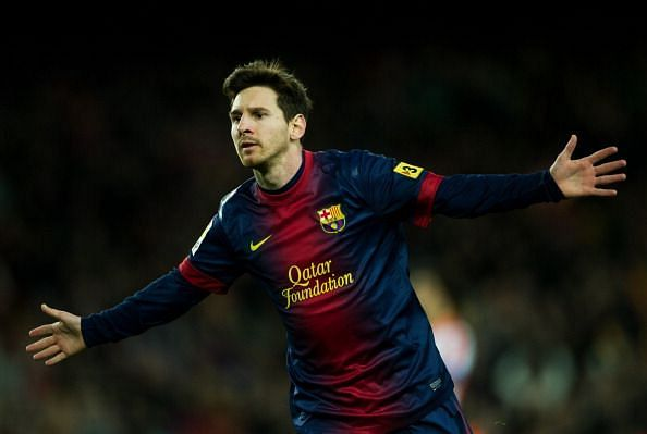 Messi scored 91 goals for club and country in 2012.