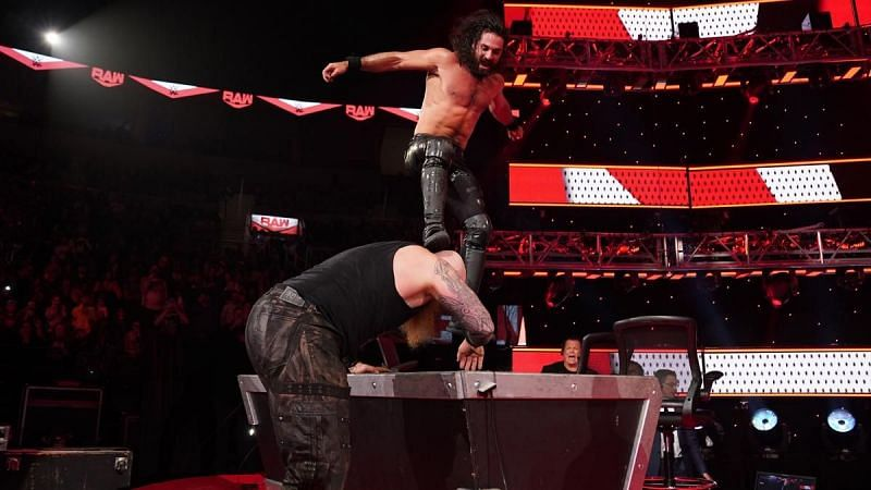 Seth Rollins in action on RAW