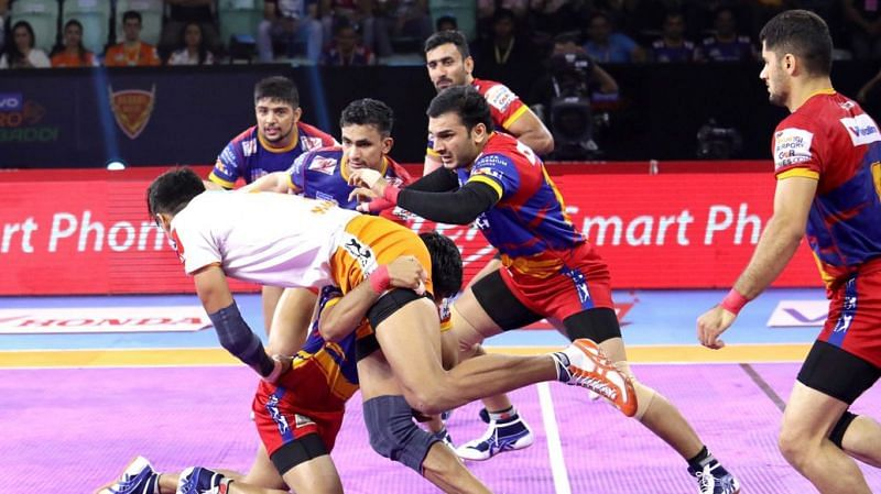 Can UP Yoddha extend their strong run? (Image Courtesy: Pro Kabaddi)