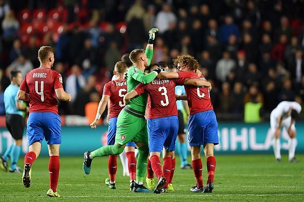 Czech Republic outwitted England 2-1