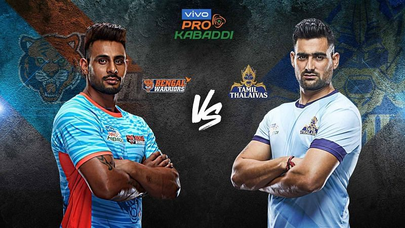 Bengal Warriors look to grab the first position with a win against Tamil Thalaivas tonight.