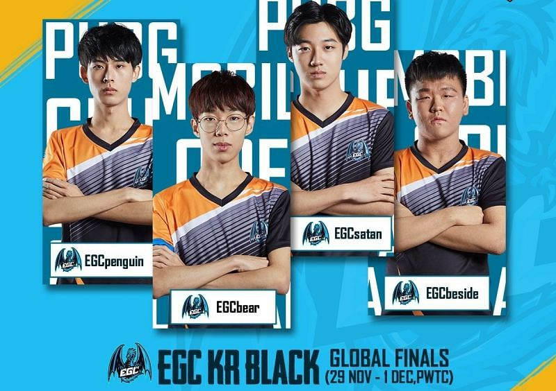 EGC KR Black will be participating in the PMCO Fall Split 2019 Global Finals as the Korean qualifiers. (Image: PUBG Mobile Esports)