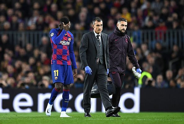 Ousmane Dembele was once again injured in their last match