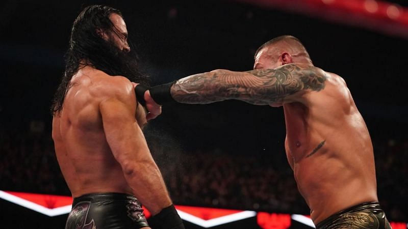 Drew McIntyre and Randy Orton trading chops