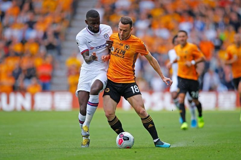 Rudiger only managed to play 45 minutes against Wolves before injuring himself