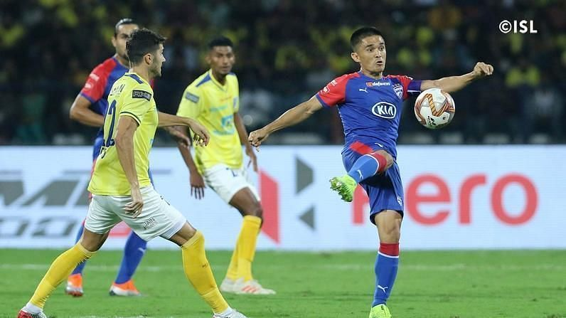 Sunil Chhetri has found the net in the last two games for Bengaluru FC