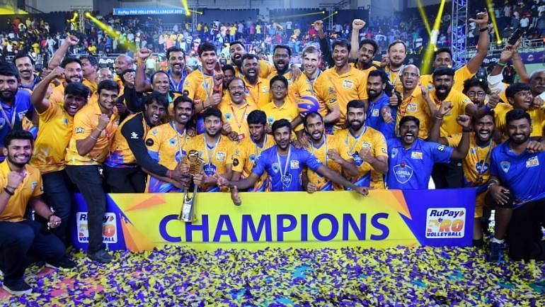 Chennai Spartans emerged as the champions of the inaugural season