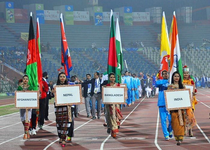 The 12th South Asian Games were held in Guwahati - Shillong in 2016.