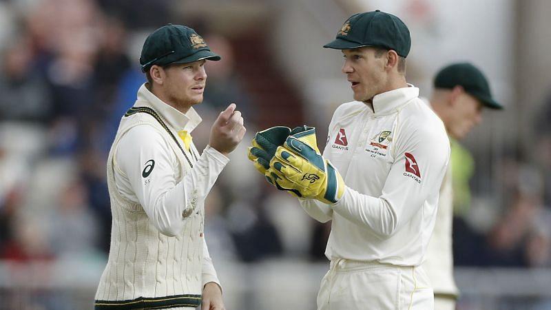 Steve Smith with Australia captain Tim Paine