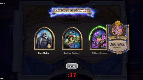 You will get a choice of 3 heroes to choose from.