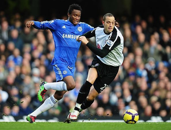 Obi Mikel during his time at Chelsea