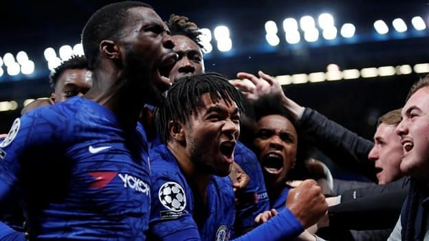Chelsea rejoice after their stunning 4-4 draw with Ajax