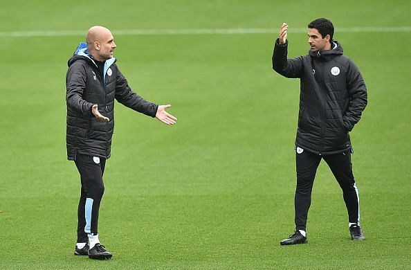 Mikel Arteta is assistant manager at Manchester City to Pep Guardiola