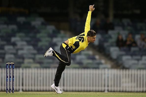 Marcus Stoinis during the Marsh One Day Cup - WA v VIC