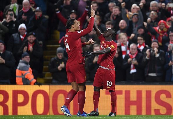 Liverpool FC v Manchester City - The Reds celebrate!