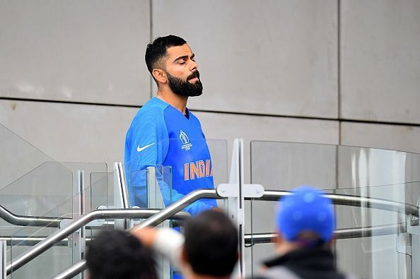 Virat Kohli after India