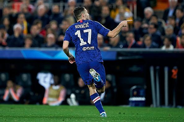 Kovacic scored his first Chelsea goal against Valencia