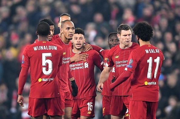 Liverpool FC v KRC Genk: UEFA Champions League - The Reds celebrate the winning goal