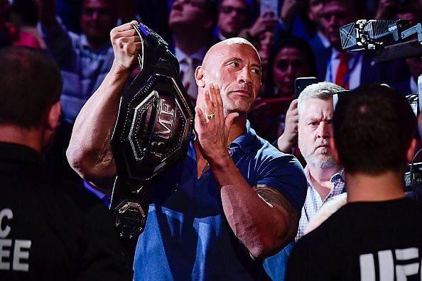 UFC के नए टाइटल के साथ द रॉक