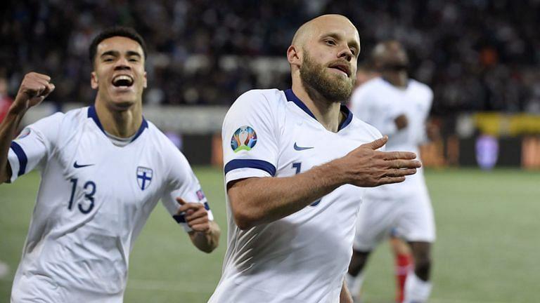 Teemu Pukki scored twice as Finland beat Liechtenstein to qualify for Euro 2020.