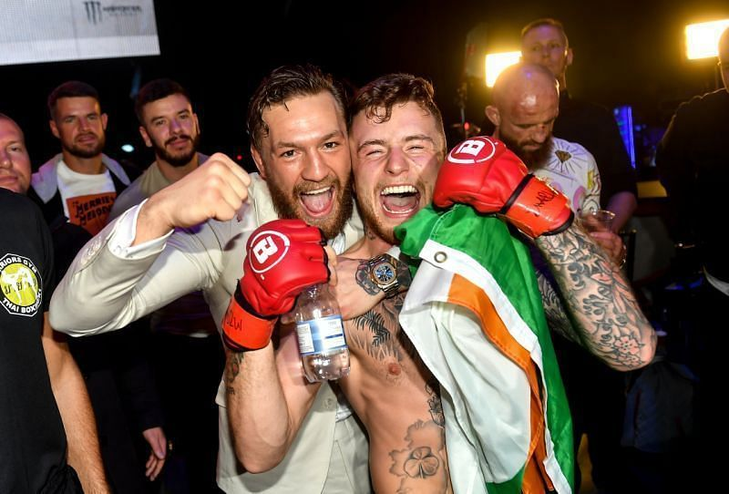 Conor McGregor with SBG teammate James Gallagher
