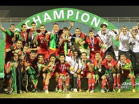 Afghanistan lifting their first-ever SAFF Cup trophy