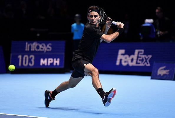 Roger Federer defeated Matteo Berrettini in a hard-fought match at the O2 Arena, London.