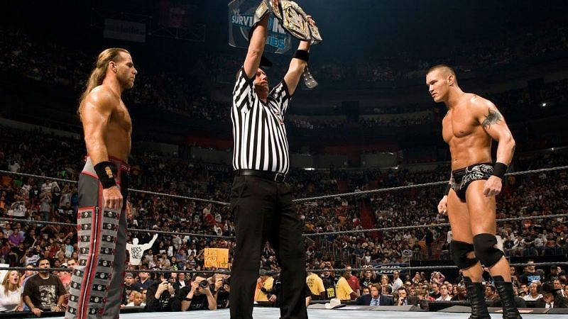 Randy Orton defended the WWE Title against Shawn Michaels at Survivor Series 2007.