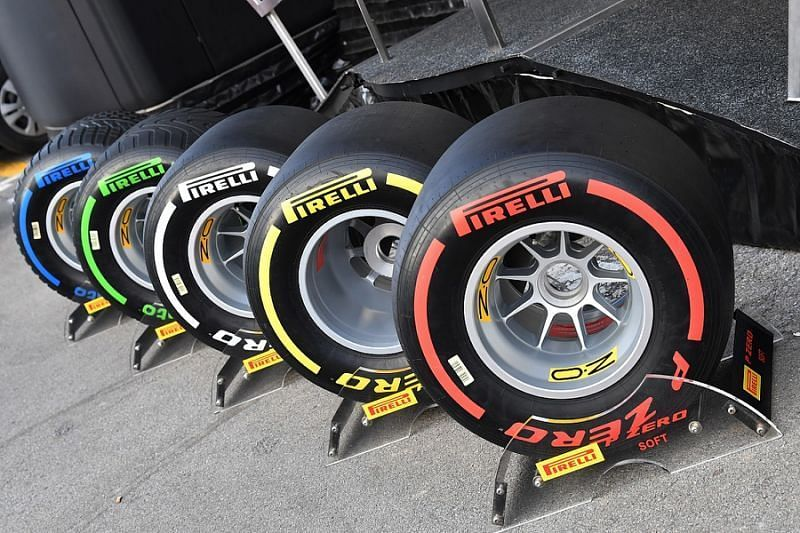 The extensive Pirelli Formula One Tyre Range