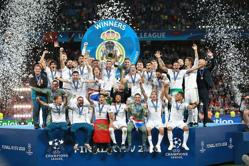 Real Madrid celebrate their 13th Champions League title in Kiev