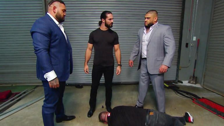 Seth Rollins and AOP left Kevin Owens in a heap backstage on RAW.