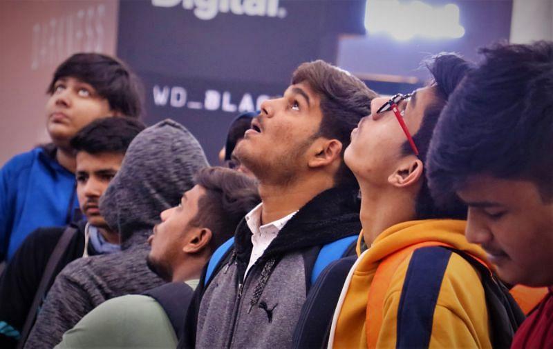 Fans huddled up at PUBG Mobile
