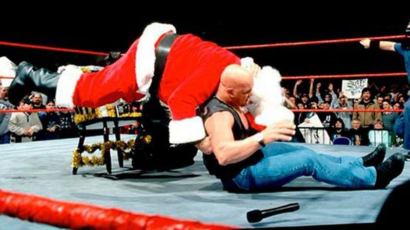 On WWE programming, no one is safe, not even Santa Claus.