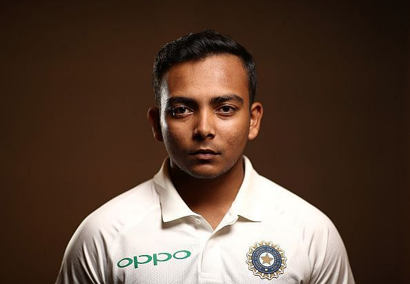 Prithvi Shaw in Indian Test team uniform