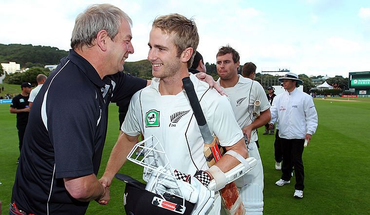 Kane Williamson after salvaging a draw against South Africa in 2012