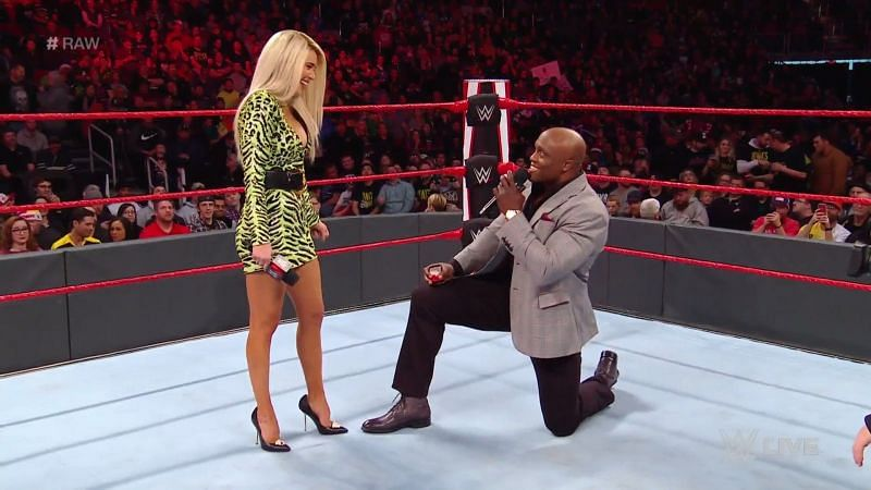 Lashley proposed to Lana in the ring