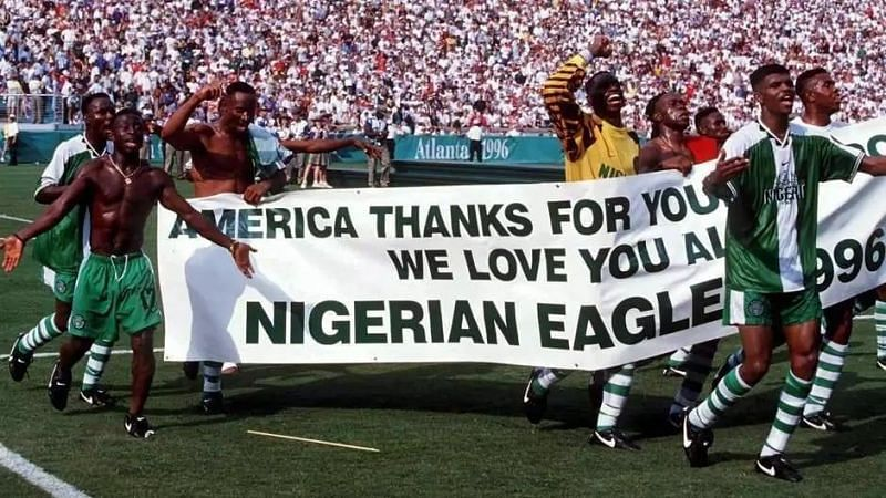 Image result for Nigeria Gold medal 1996 football Olympics