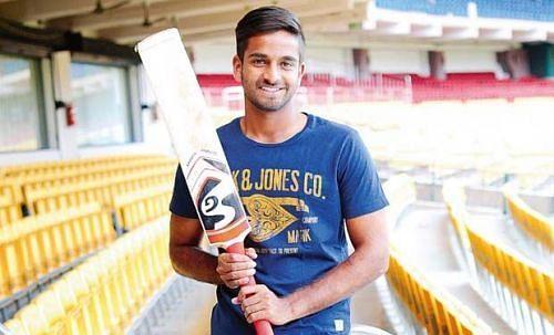 R Samarth plays for Karnataka in the domestic circuit
