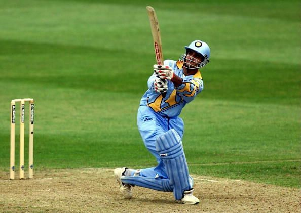 Sourav Ganguly enroute his brilliant 183 vs Sri Lanka in Taunton