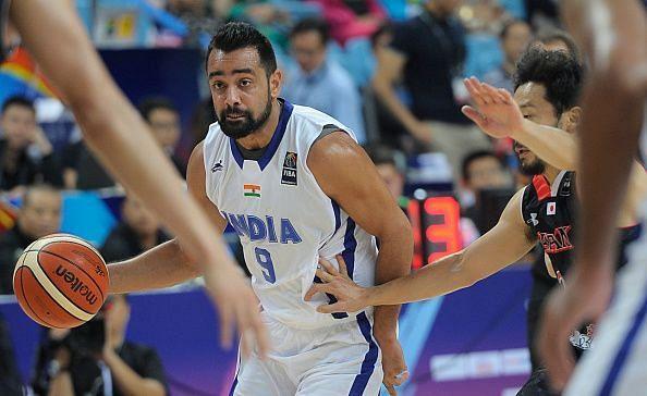 Vishesh Bhriguvanshi during the 2015 FIBA Asia Championship