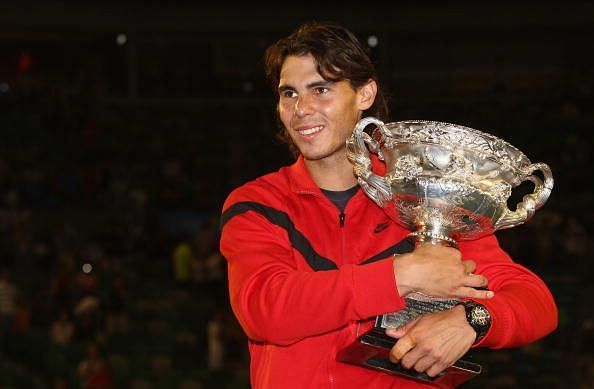 2009 Australian Open: Rafael Nadal with his solitary title at Melbourne
