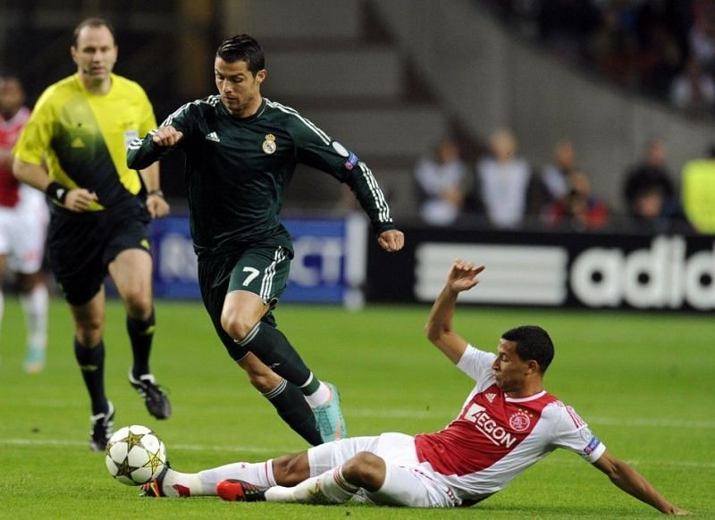 Ronaldo scored his first Champions League hat-trick against Ajax in 2012-13