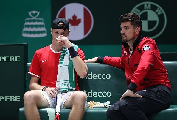 Canada will rely on youngsters like Denis Shapovalov (L) to deliver big